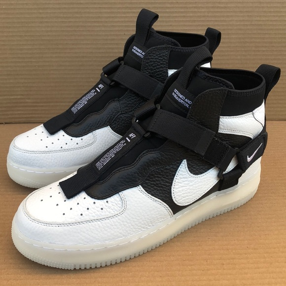 Nike Shoes Air Force 1 Utility Mid Orca Off White Black Poshmark